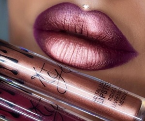 metallic, pretty, and kylie lip colors image