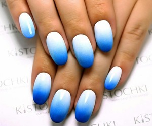 blue, nails, and love image