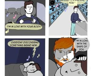 ed, funny, and sheeran image