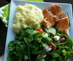 cooking, fish, and healthy image
