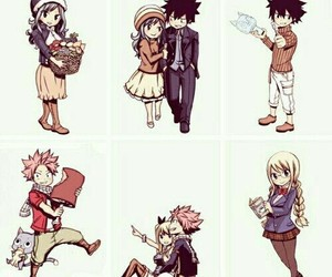 nalu, gruvia, and Lucy image