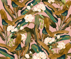 flowers, leaves, and patterns image