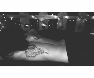 Angel Wings, back tattoo, and ink image