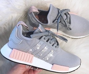 adidas, rose, and shoes image