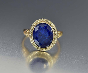 art, ring, and blue image
