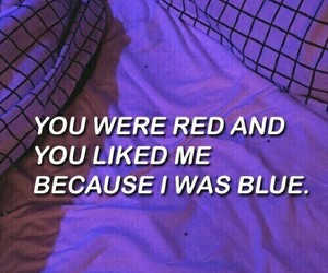 halsey, blue, and red image
