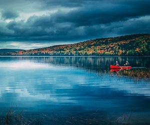 blue, boat, and canada image