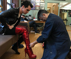 brendon urie, emo, and high heels image
