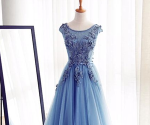 blue, dress, and beautiful image