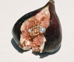 art, fruit, and pearls image