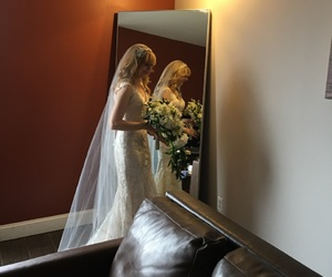 actress, blonde, and bride image