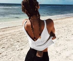 beach, inspiration, and braids image