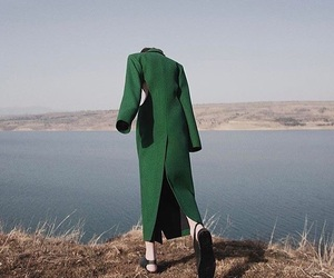 coat and green image