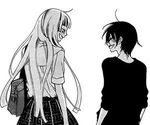 alice, black and white, and fukumenkei noise image