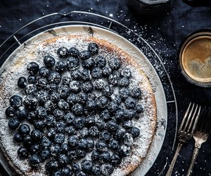 blueberries, cheese cake, and ricotta image