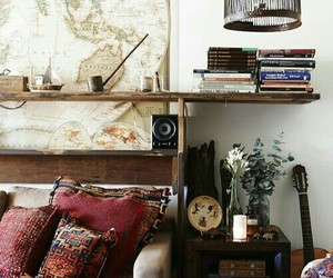 boho, book, and house image