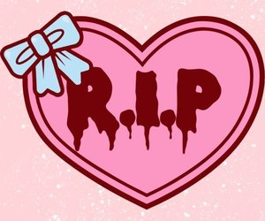 pink, heart, and r.i.p image