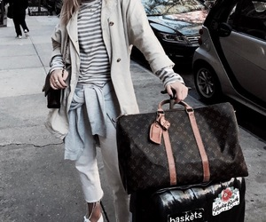 fashion, Louis Vuitton, and luggage image
