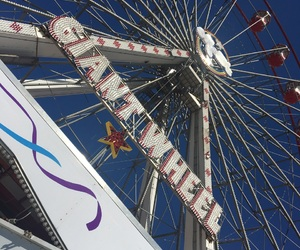 beach, big wheel, and new brighton image