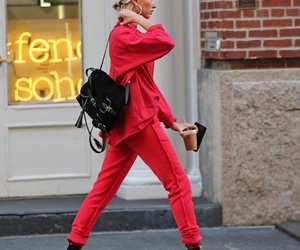 hailey baldwin, red, and style image