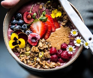 food, acai, and fruit image