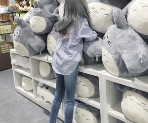 cute, girl, and totoro image