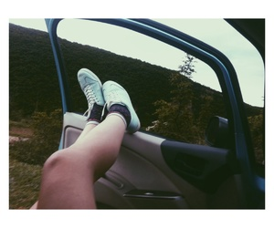 foots, grunge, and in car image