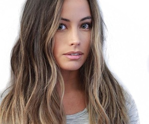 brunette and mid length hair image
