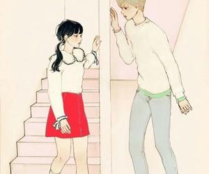 boy, pastel, and girl image