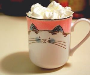 cat, cup, and cream image