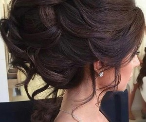 hair, hairstyle, and Prom image