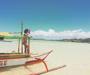 beach, girl, and Island image