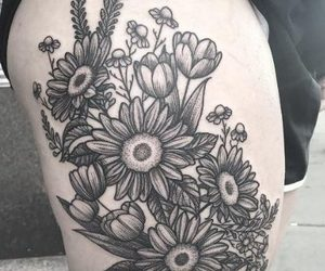Tattoos, floral tattoos, and tattoos for girls image