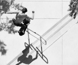 black and white, Nixon, and skateboard image