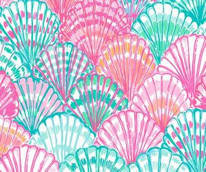 wallpaper, shell, and pink image