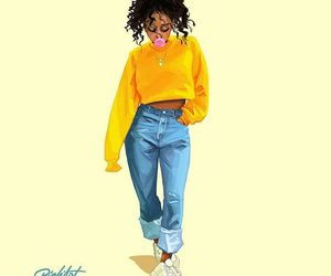 woman, art, and jeans image