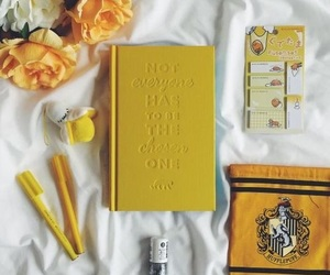 yellow, flowers, and hufflepuff image