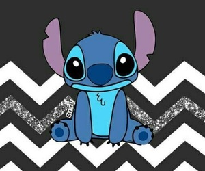 black and white, disney, and stitch image