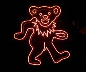grateful dead, neon, and dancing bear image
