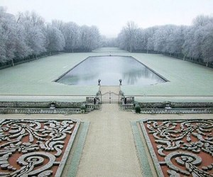 frost, park, and snow image
