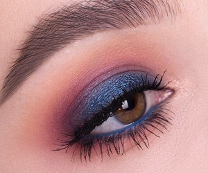blue, eye, and eyelashes image