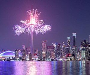 background, canada, and fireworks image