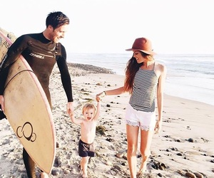 beach, family, and fashion image