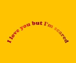 yellow, quotes, and scared image