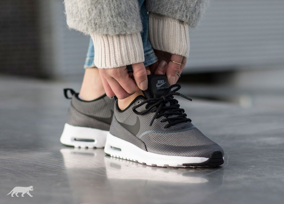 Nike Air Max Thea Txt Womens Shoes Dark GreyBlackWhite