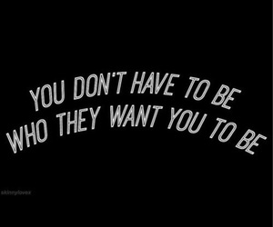 quotes, black, and be yourself image