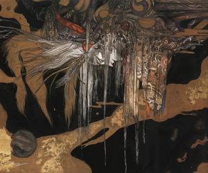 art, Art Nouveau, and black image