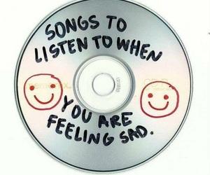 sad, music, and cd image