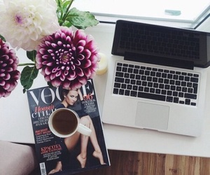 vogue, flowers, and coffee image