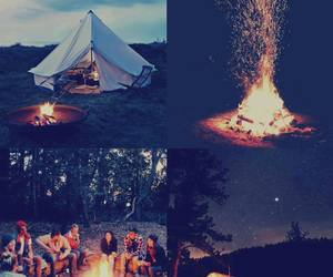 fire, friends, and love image